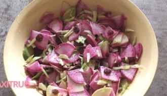 Salade de radis d'hiver